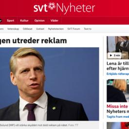 SVT- Regeringen utreder reklam