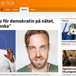 SVT Opinion - Stå upp för demokratin på nätet Bah Kuhnke